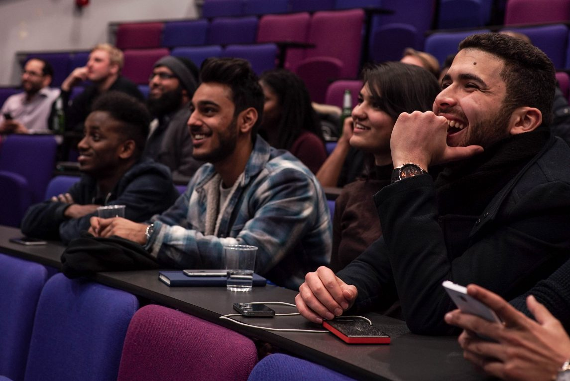 QMUL students participating at last year's East London Social Hack at the University's Mile End campus
